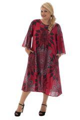 robe longue à manches évasées et col rond Oural 290363