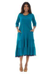 Robe longue à manches longues style bohème Clare 290126