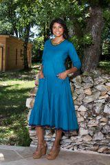 Robe longue à manches longues style bohème Clare 290128