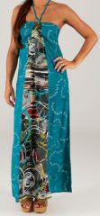 Robe longue à tour de cou Ethnique et Colorée Célia Graphique 279367