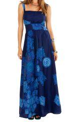 Robe longue ajustée bleue idéale pour une cérémonie Julye 307062
