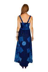 Robe longue ajustée bleue idéale pour une cérémonie Julye 307064