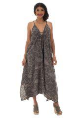 robe longue ample avec col plongeant et fines bretelles Skadi 289773