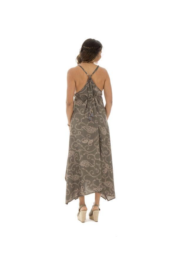robe longue ample avec col plongeant et fines bretelles Skadi 289775