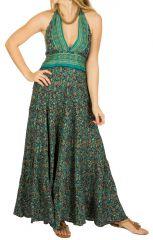 Robe longue au dos nu imprimée et très féminine Natacha 310268