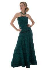 robe longue avec bustier romantique et motifs ethniques Frigga 289749