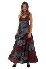 robe longue avec de fines bretelles et ravissant col en v Bailey 313321