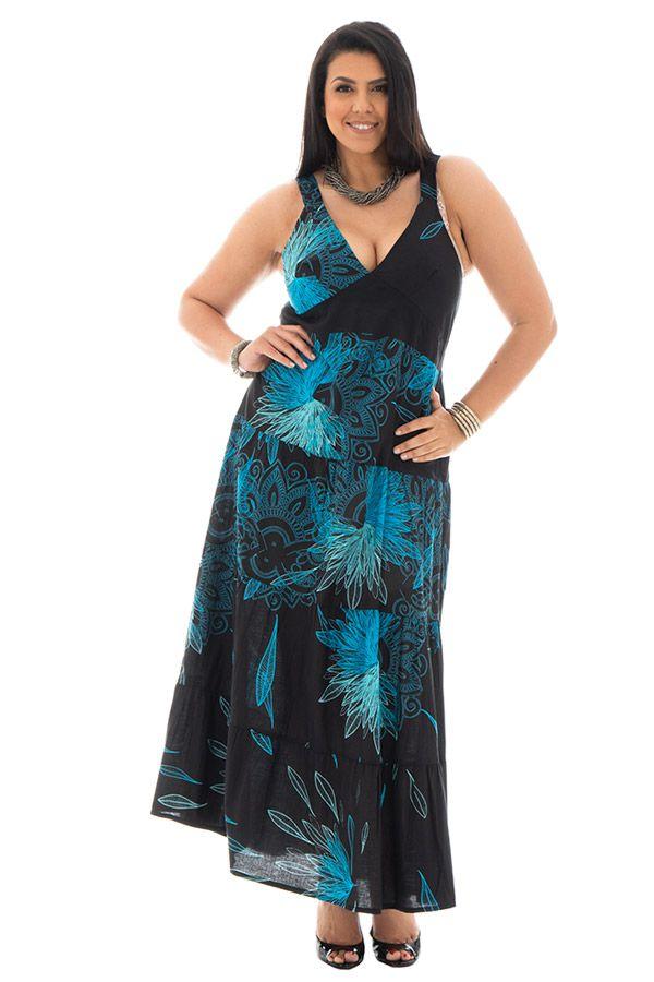 robe longue avec doublure 100% voile de coton Léonie 290179