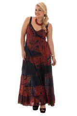 robe longue avec joli col en v 100% voile de coton Pax 290201