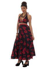 robe longue avec smocks au dos et lien à nouer Skylar 289705