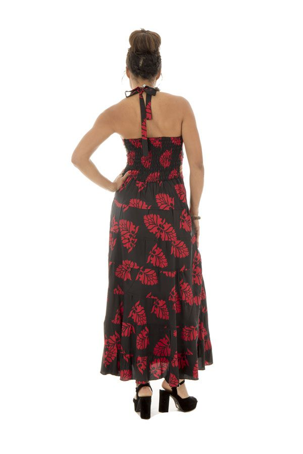robe longue avec smocks au dos et lien à nouer Skylar 289706