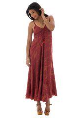 robe longue avec un col en v et charmants imprimés ethniques Kerena 289723