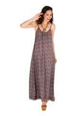 Robe longue avec un imprimé dans un style vintage tendance Luze 306080