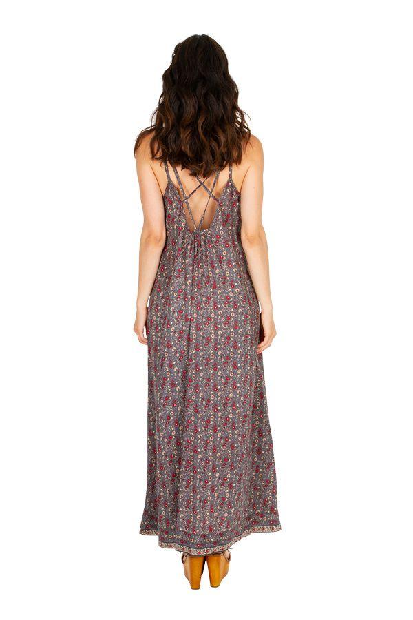 Robe longue avec un imprimé dans un style vintage tendance Luze 306081