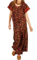 Robe longue avec un imprimé fleuri bohème Souriya 307004