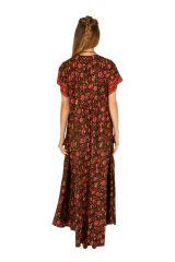 Robe longue avec un imprimé fleuri bohème Souriya 307006