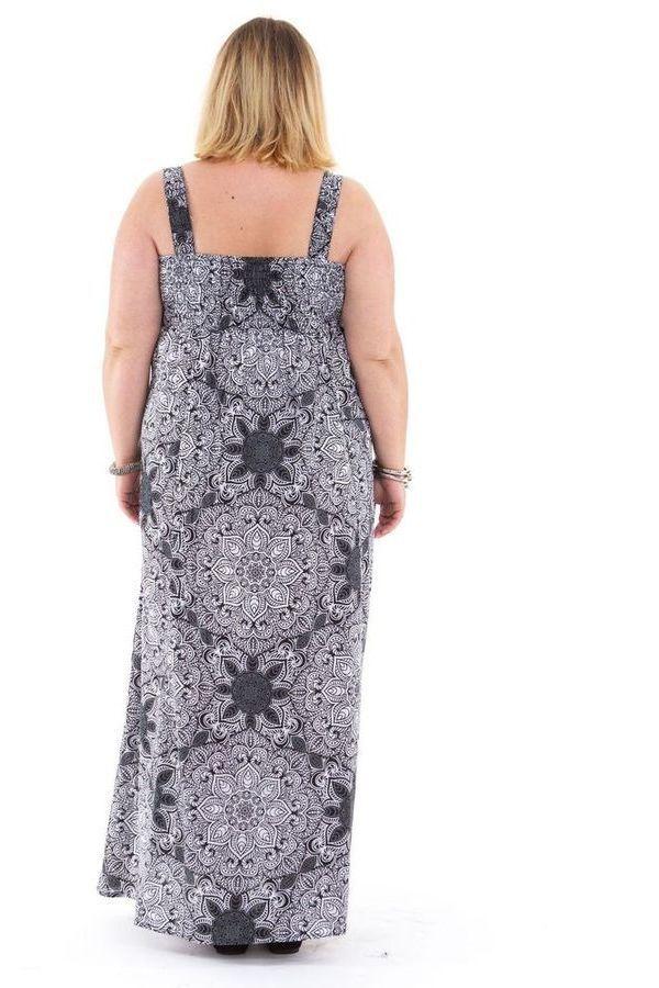 Robe longue Blanche et Noire Grande taille Décolletée Jeanet 312579