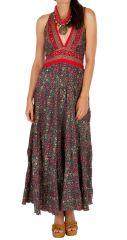 Robe longue bohème avec un imprimé de fleurs Sylvia
