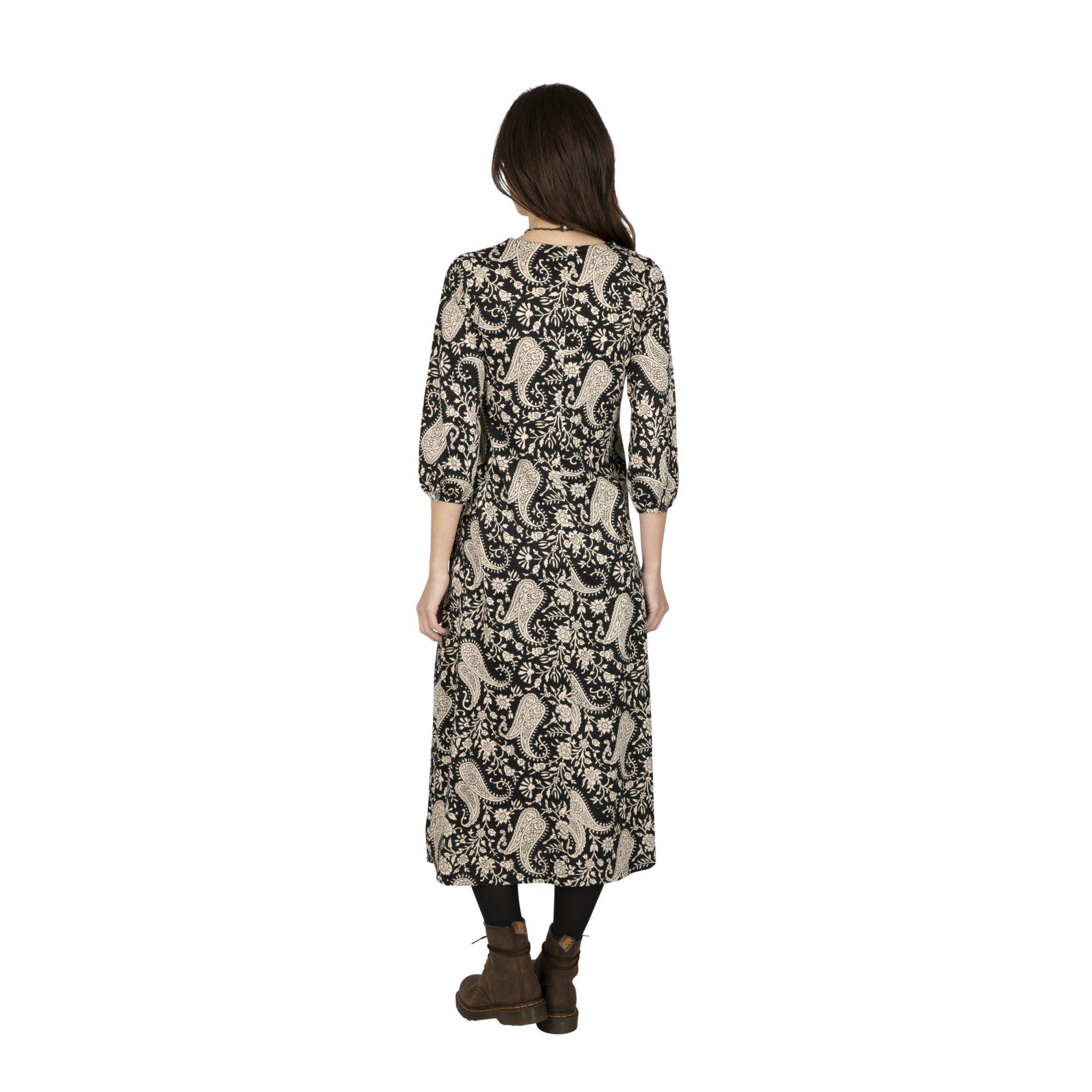 Robe longue bohème d\'automne pour femme Machalé