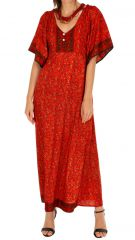Robe longue bohème estivale et originale Massaoua orange 314441