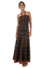 robe longue bustier a volants avec imprimés ethniques karrah 289743