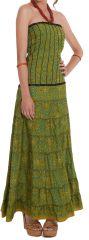 Robe longue bustier Chic et Ethnique Matala Verte 280807