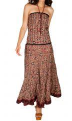 Robe longue bustier d'été avec une coupe évasée au bas Eleonore 305926