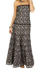 Robe longue bustier idéale soirée avec imprimé noir&blanc Matala 293202