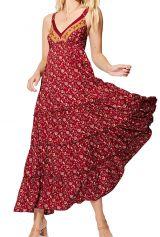 Robe longue chic bohème à fleurs pour soirée originale Renée