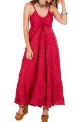 Robe longue chic et originale à fines bretelles Miranda 292691