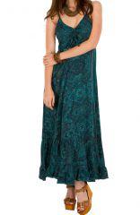 Robe longue chic et tendance à fines bretelles Miranda 292737