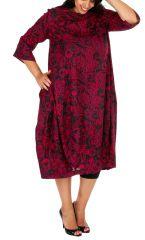 Robe longue chic imprimée arabesques grande taille Joyce 308499