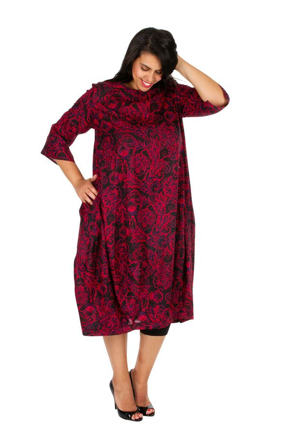 Robe longue chic imprimée arabesques grande taille Joyce 308500
