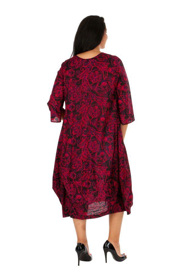 Robe longue chic imprimée arabesques grande taille Joyce 308501