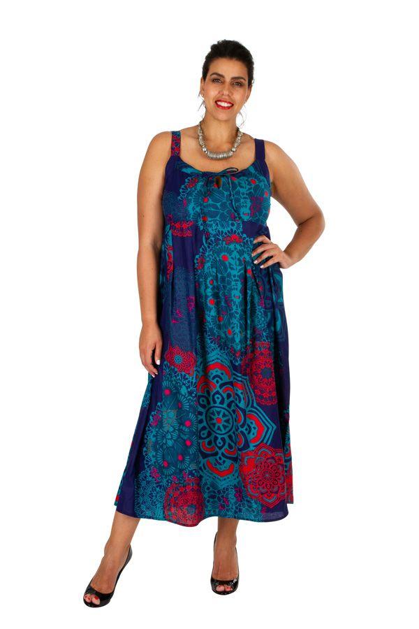 Robe longue coloée de plage femme grande taille Summy 309364