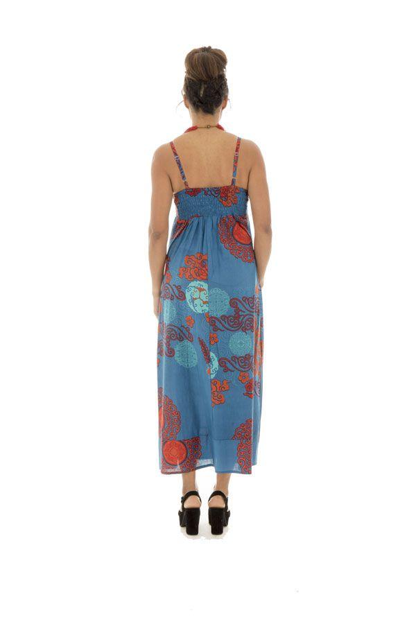 Robe longue colorée avec un col en v Iris 288628