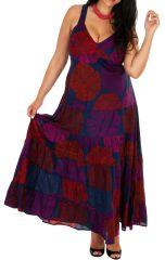 Robe longue colorée fluide et légère grande taille April 308515