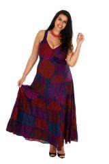 Robe longue colorée fluide et légère grande taille April 308516