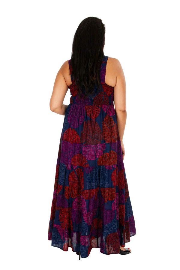 Robe longue colorée fluide et légère grande taille April 308517