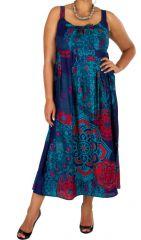 Robe longue colorée grande taille Summy 317178