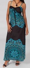 Robe longue colorée idéale pour un mariage Hinane