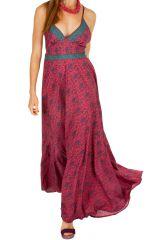 Robe longue croisée dans le dos pour soirée ou mariage Valentine