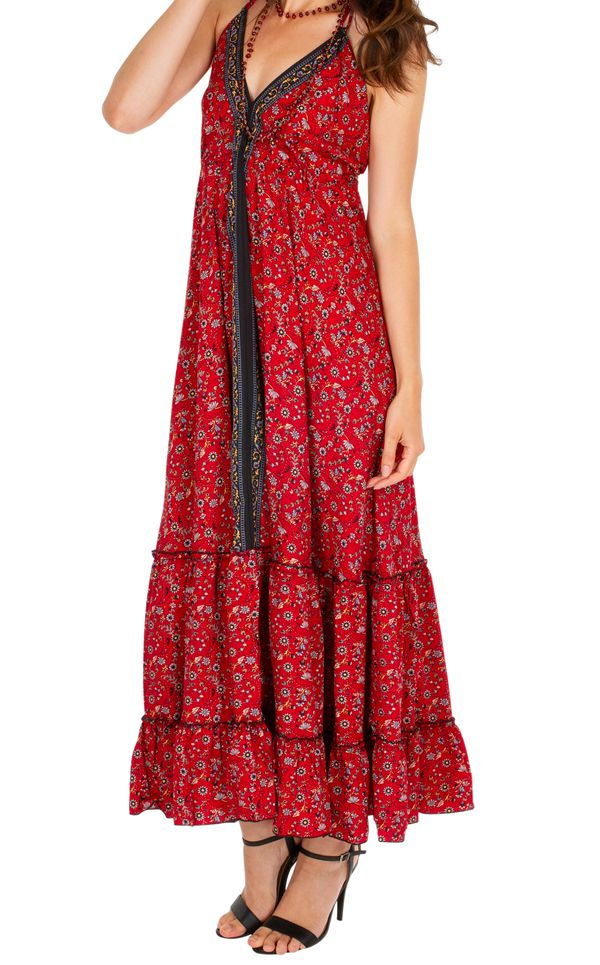 Robe longue d'été  bohème parfaite pour cérémonie Noémie 310716