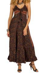 Robe longue d'été à fines bretelles pour mariage Beylul 314506