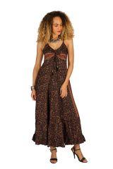 Robe longue d'été à fines bretelles pour mariage Beylul 314507