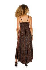 Robe longue d'été à fines bretelles pour mariage Beylul 314508