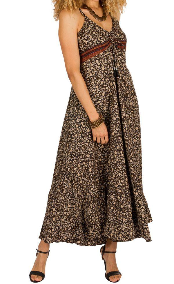 Robe longue d'été à fines bretelles pour soirée Teseney 314518