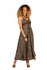 Robe longue d'été à fines bretelles pour soirée Teseney 314519