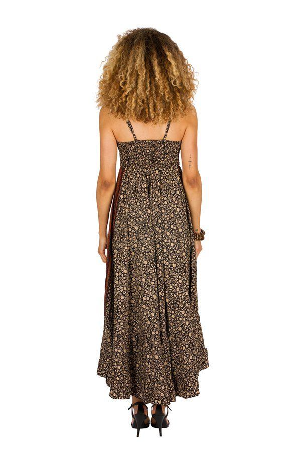 Robe longue d'été à fines bretelles pour soirée Teseney 314520