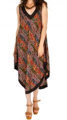 Robe longue d'été asymétrique et confortable Cristina 311612